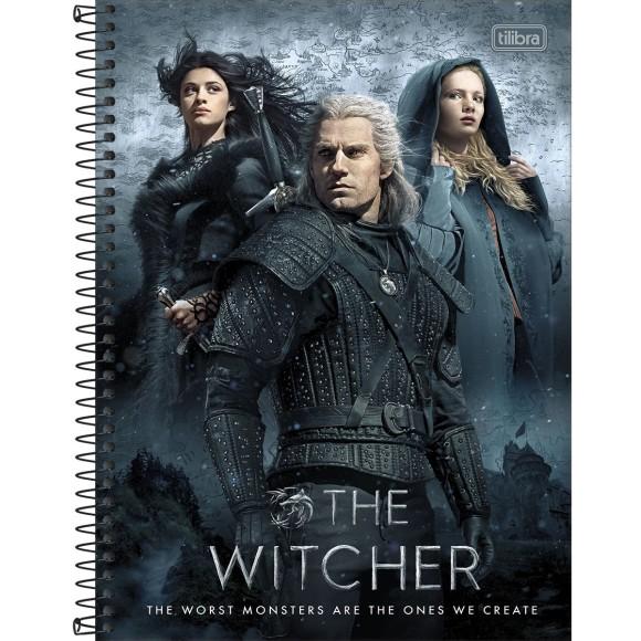 Caderno 1 Matéria Universitário Espiral The Witcher - Tilibra