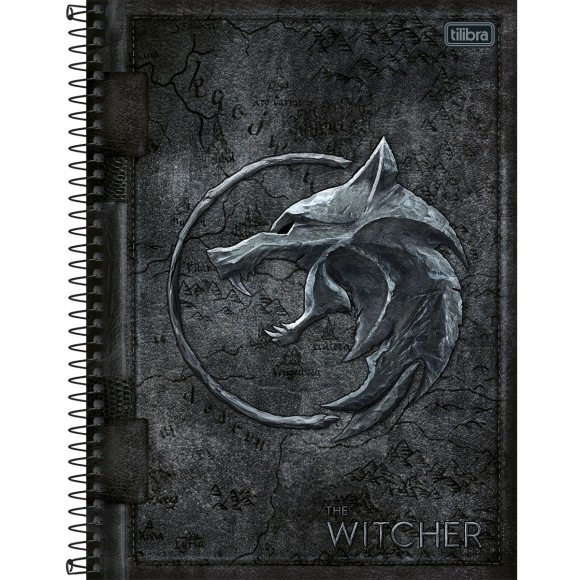 Caderno 10 Matérias Universitário Espiral The Witcher - Tilibra