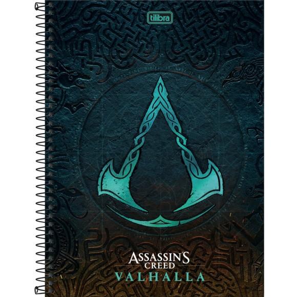 Caderno 1 Matéria Universitário Espiral Assassin's Creed - Tilibra