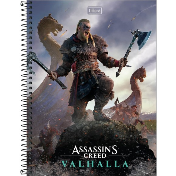 Caderno 1 Matéria Universitário Espiral Assassin's Creed - Tilibra