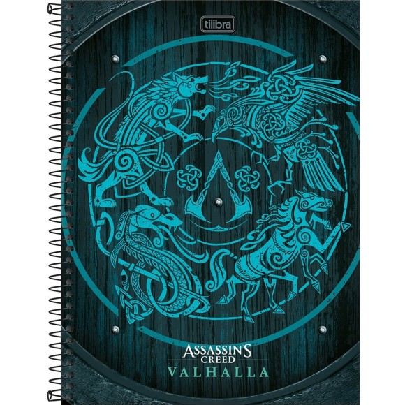 Caderno 10 Matérias Universitário Espiral Assassin's Creed - Tilibra