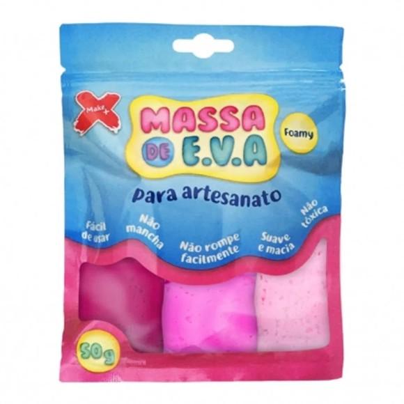 Massa de E. V. A. Para Modelagem - Tons de Rosa - 50g - Make +