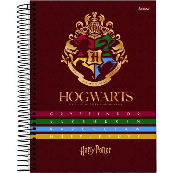 Caderno 10 Matérias Colegial Espiral Harry Potter - Jandaia