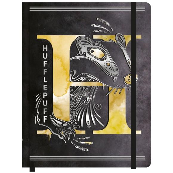Caderneta de Anotações Sem Pauta Pequena - Harry Potter - Lufa-Lufa / Hufflepuff - Jandaia