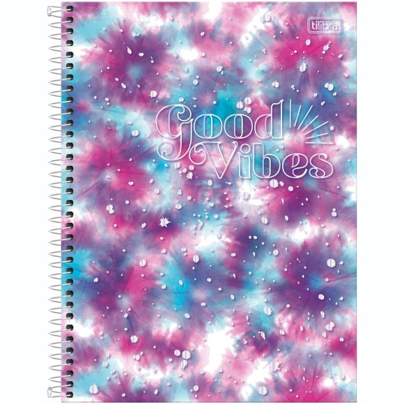 Caderno 1 Matéria Universitário Espiral Good Vibes