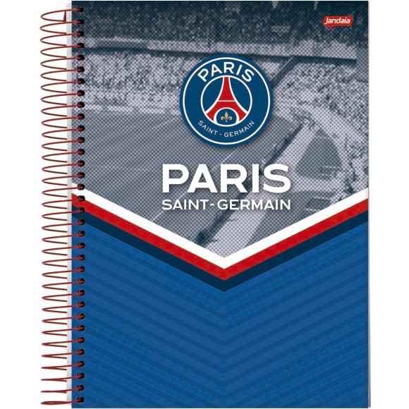 Caderno 1 Matéria Universitário Espiral Paris Saint-Germain - Jandaia