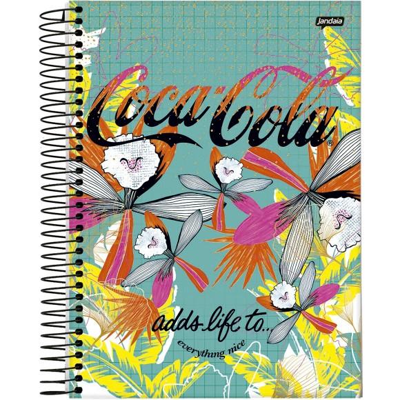 Caderno 10 Matérias Universitário Espiral Coke Girl Coca-Cola - Jandaia