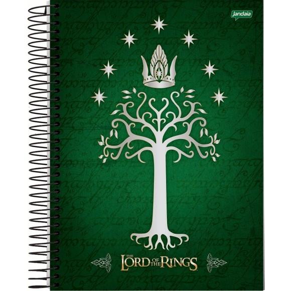 Caderno 10 Matérias Universitário Espiral Senhor dos Anéis - Jandaia