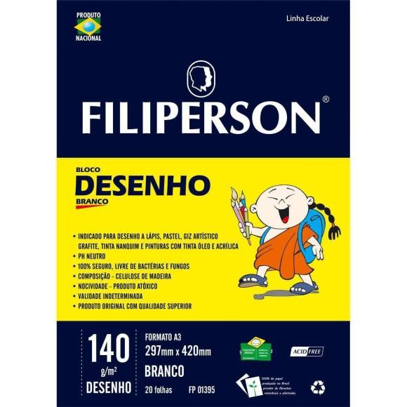 Bloco Desenho A3 Creme - 20 Folhas 140g/m² - Filiperson