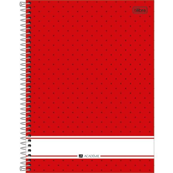 Caderno Universitário Espiral Académie Vermelho - 1 Matéria - Tilibra