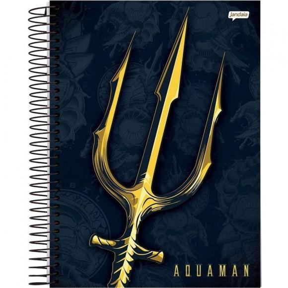 Caderno 10 Matérias  Universitário Espiral Aquaman - Jandaia