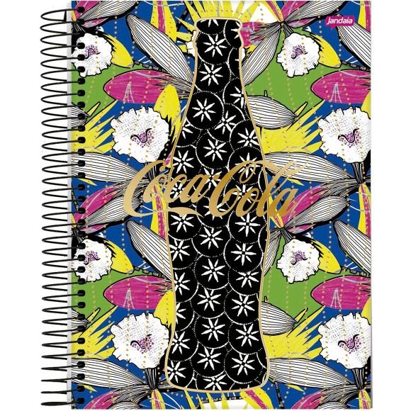 Caderno 1 Matéria Universitário Espiral Coke Girl Coca-Cola - Jandaia