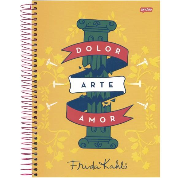 Caderno 1 Matéria Universitário Espiral Frida Kahlo - Jandaia