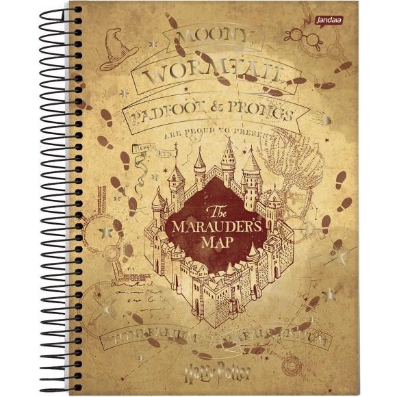 Caderno 1 Matéria Colegial Espiral Harry Potter - Jandaia