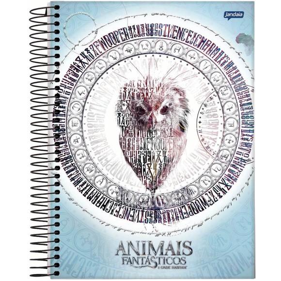 Caderno 1 Matéria Universitário Espiral Animais Fantásticos - Jandaia