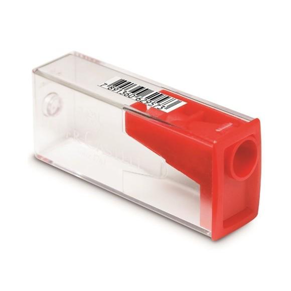 Apontador Com Depósito Faber Castell - Vermelho