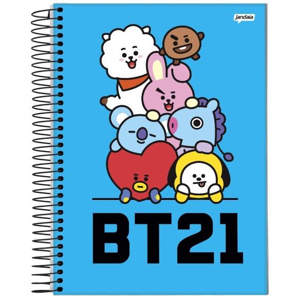 Caderno 10 Matérias Universitário Espiral BT21 - Jandaia