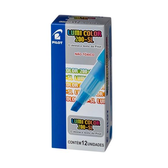 Caixa Marca Texto Lumi Color Azul - 12 Unidades - Pilot