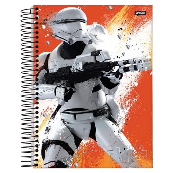 Caderno 1 Matéria Universitário Espiral Star Wars - Jandaia