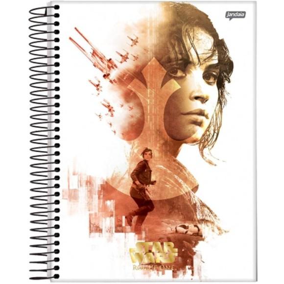 Caderno 1 Matéria  Universitário Espiral Star Wars - Rogue One - Lyn   Jandaia