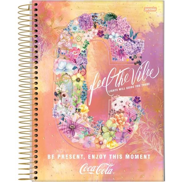 Caderno Universitário Coca-Cola Feel The Vibe - 1 Matéria - Jandaia