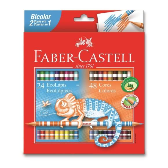 Lápis de Cor 48 Cores - 24 Lápis - Faber-Castell