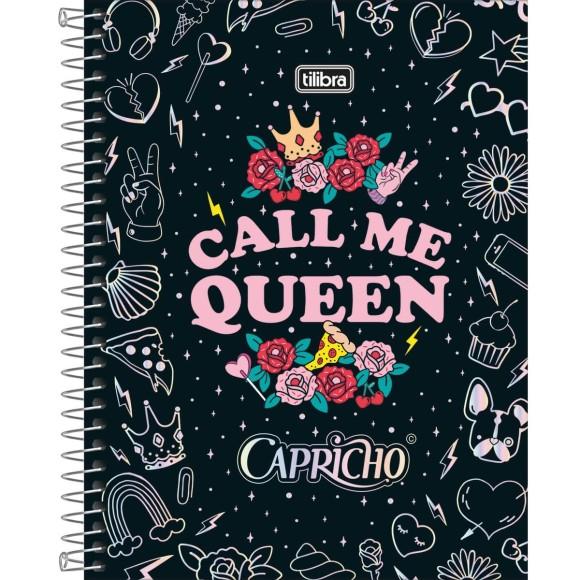 Caderno Colegial Espiral Capricho Call Me Queen - 10 Matérias - Tilibra