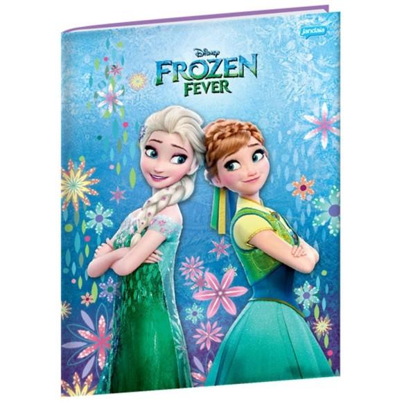 Caderno Brochurão Capa Dura Frozen Fever - 96 folhas - Jandaia