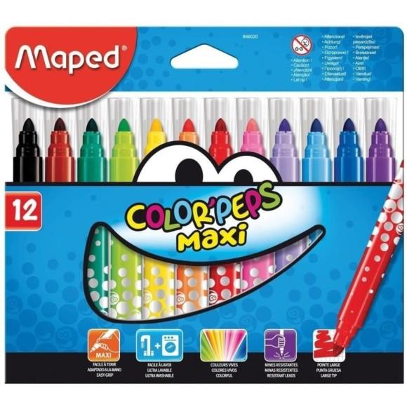 Canetinha Hidrocor 12 Cores - Color'Peps Maxi - Maped