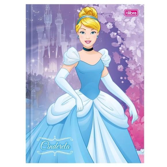 Caderno Brochurão Capa Dura Princesas Cinderela - 96 folhas - Tilibra