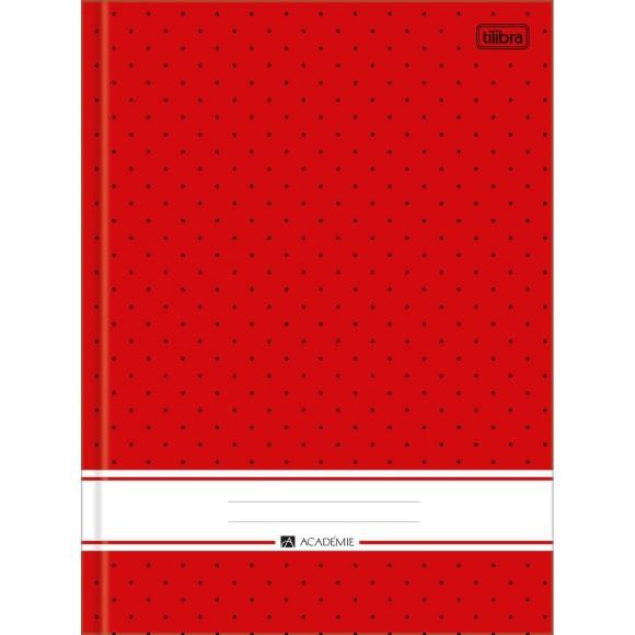 Caderno Brochurão Capa Dura Académie Vermelho - 96 folhas - Tilibra