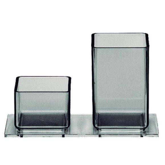 Porta Lápis / Clips Fumê - Acrimet