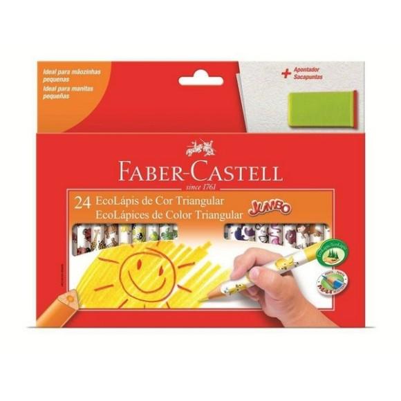 Lápis de Cor Triangular JUMBO 24 Cores Faber Castell