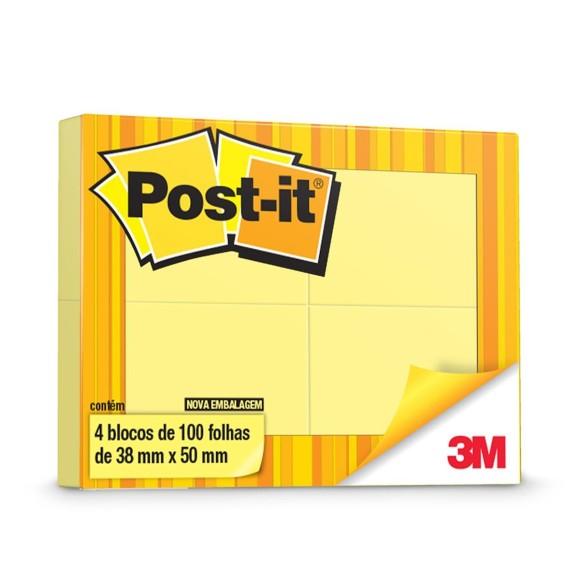 4 Blocos de Notas Adesivas Post-it - 3M
