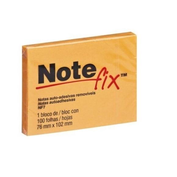Bloco de Notas Auto-Adesivas Removíves Laranja - Note Fix