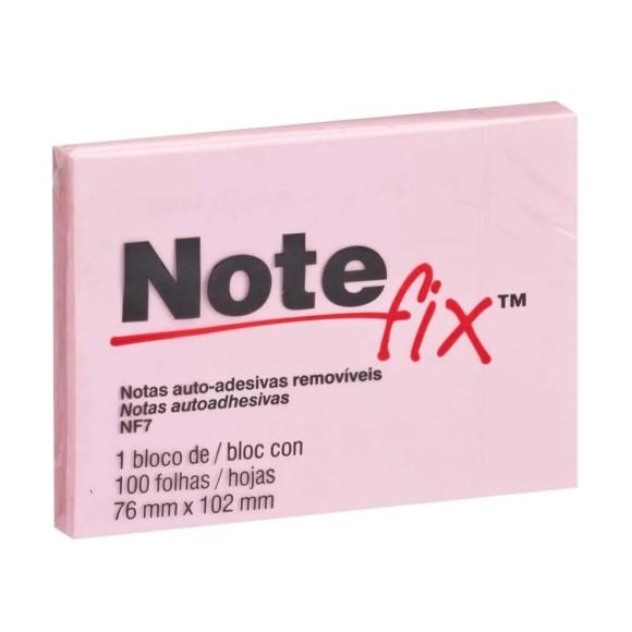 Bloco de Notas Auto-Adesivas Removíves Rosa - Note Fix