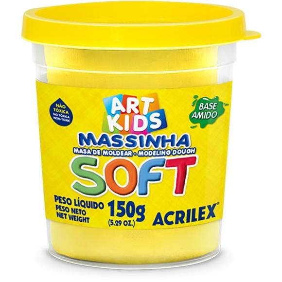 Massinha Amarela Limão 150g Soft Art Kids - Acrilex