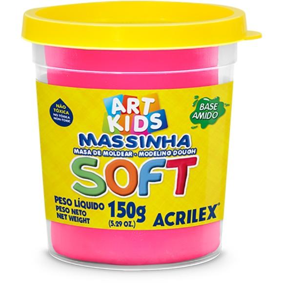 Massinha Rosa 150g Soft Art Kids - Acrilex