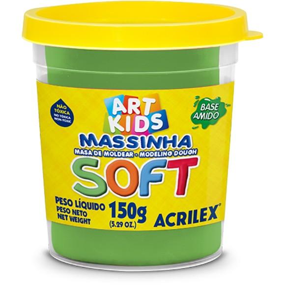 Massinha Verde 150g  Soft Art Kids - Acrilex