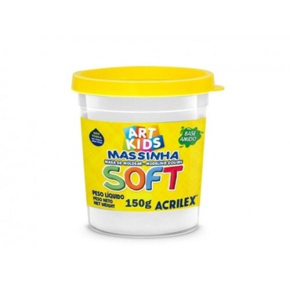 Massinha Branco Neve 150g  Soft Art Kids - Acrilex